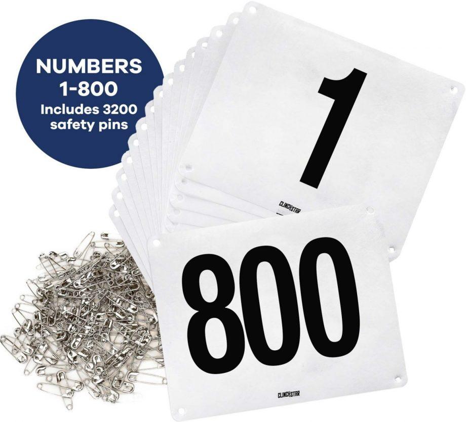 running bib race numbers